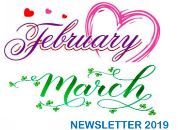 February and March 2019 Newsletter